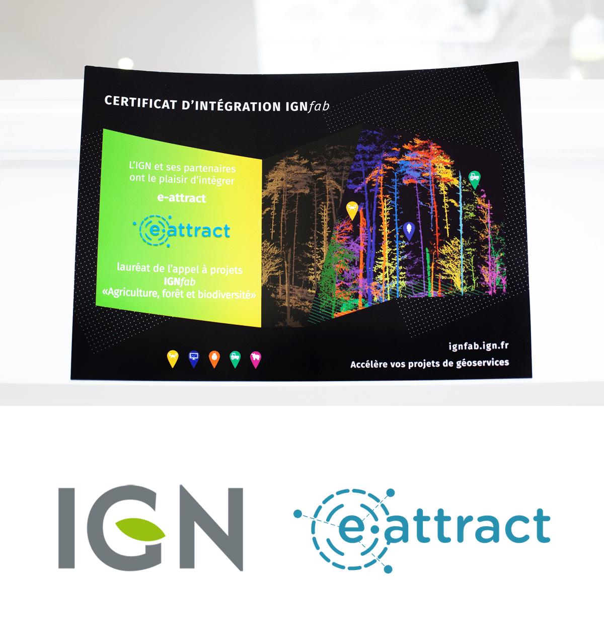 e-attract, lauréat de l'AAP IGNFab