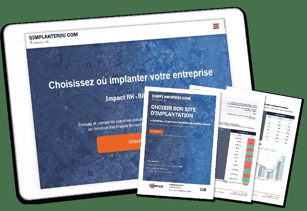 Simplanterou.com c'est l'accès à une carte interactive et un rapport PDF