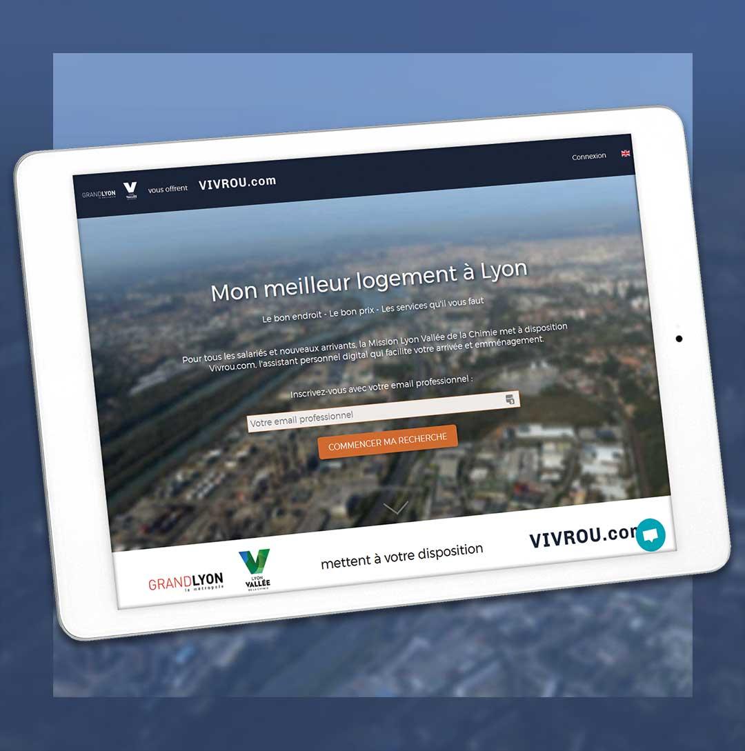 Plateforme Vivrou.com à la Vallée de la Chimie, en partenariat avec la Métropole de Lyon
